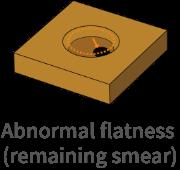 Abnormal flatness (remaining smear)