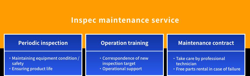 Inspec maintenance service